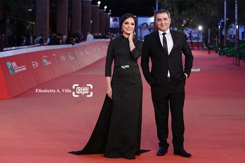 مارال فرجاد و اتابک نادری در فرش قرمز فیلم جاودانگی در جشنواره فیلم رم