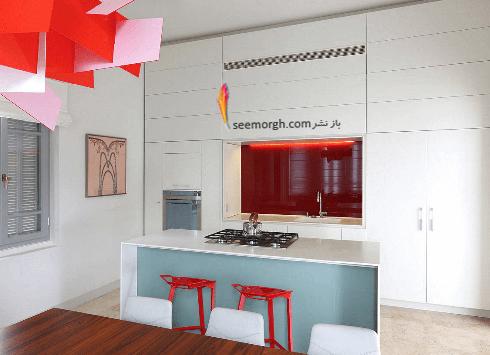 دکوراسیون آشپزخانه شماره 4 به سبک مینیمالیسم