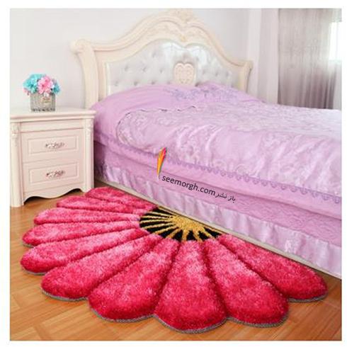 فرش فانتزی اتاق خواب با طرح گل