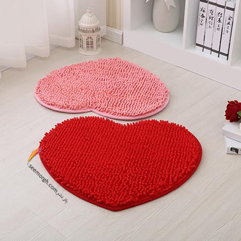 فرش فانتزی اتاق خواب با طرح قلب