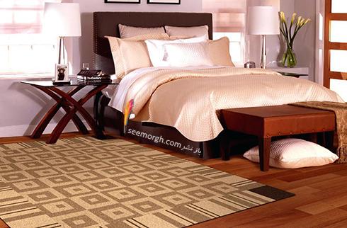 فرش فانتزی چند رنگ برای اتاق خواب - مدل شماره 2