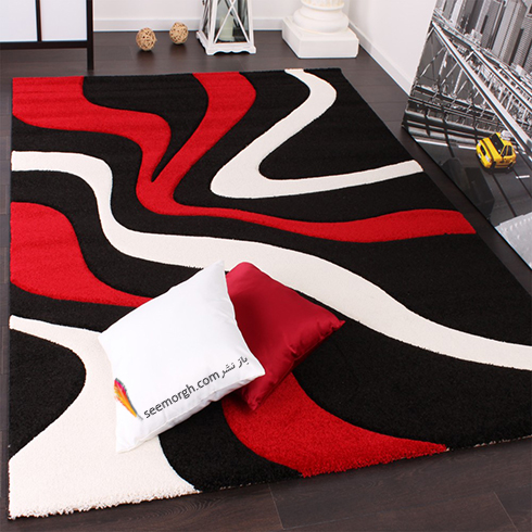 فرش فانتزی چند رنگ برای اتاق خواب - مدل شماره 1