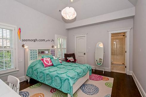 فرش فانتزی چند رنگ برای اتاق خواب - مدل شماره 3