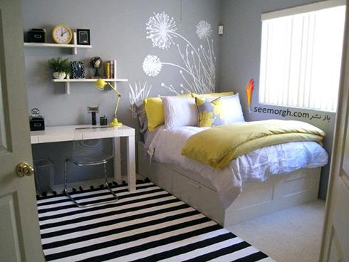 فرش فانتزی راه راه برای اتاق خواب - مدل شماره 3