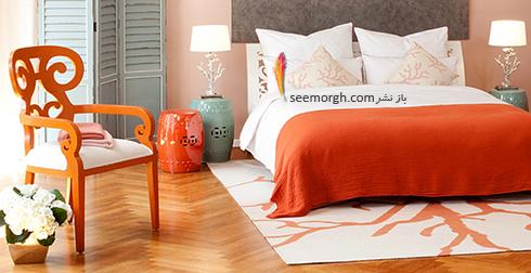 فرش فانتزی دو رنگ برای اتاق خواب - مدل شماره 1