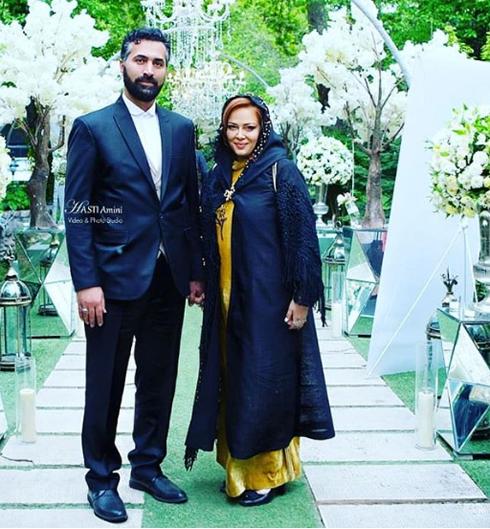 بهاره رهنما و همسرش در مراسم رونمایی از عطر بهاره رهنما به نام زن باران