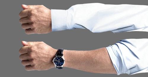 پنهان کردن ساعت زیر آستین لباس