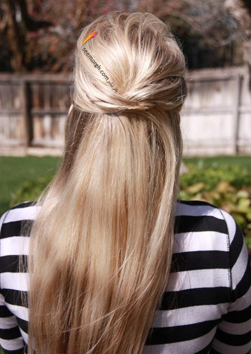 مدل مو های آسان مخصوص خانم های پرمشغله - مدل شماره 6