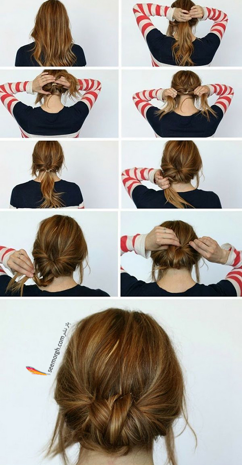 مدل مو های آسان مخصوص خانم های پرمشغله - مدل شماره 4