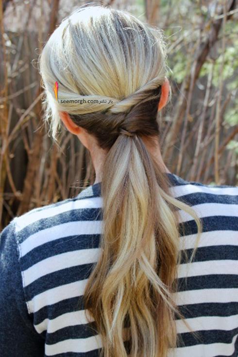 مدل مو های آسان مخصوص خانم های پرمشغله - مدل شماره 3
