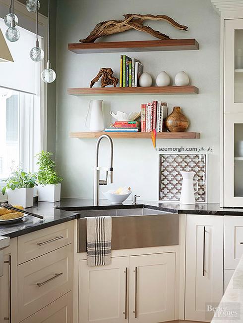 دیوارهای آشپزخانه های کوچک
