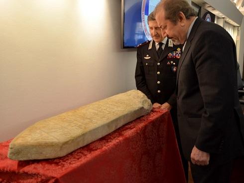 بازگرداندن لوح سنگی قرن 17 از ایتالیا به ایران
