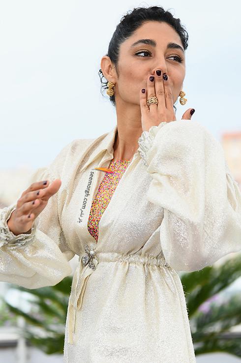 مدل لباس گلشیفته فراهانی Golshifte farahani در ششمین روز جشنواره کن 2018 Cannes - عکس شماره 4