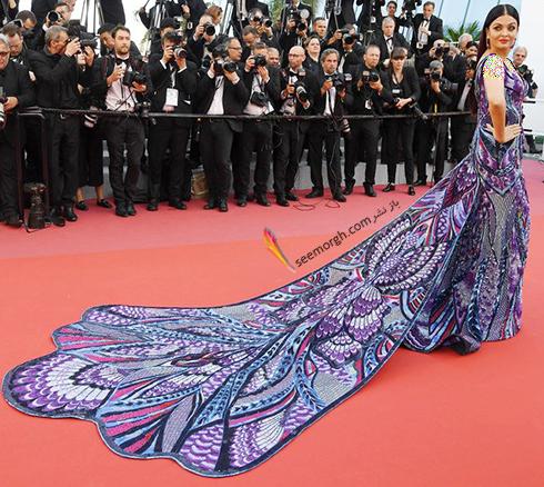 جشنواره کن 2018 cannes - مدل لباس آیشواریا رای Aishwaria Ray، عکس شماره 2