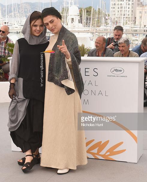 جشنواره کن 2018 Cannes، مدل لباس بهناز جعفری و مرضیه رضایی - عکس شماره 1