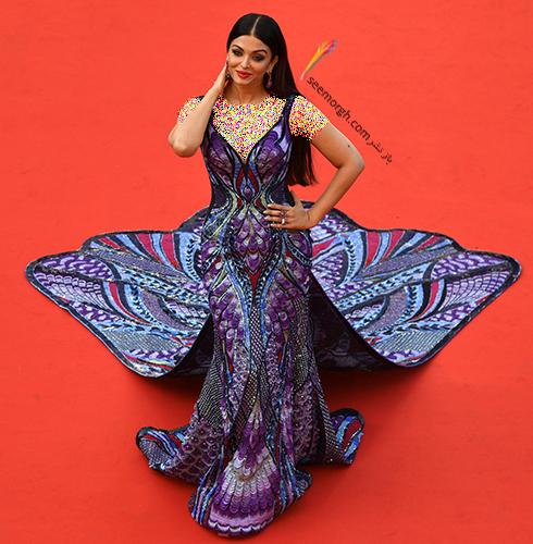 جشنواره کن 2018 cannes - مدل لباس آیشواریا رای Aishwaria Ray، عکس شماره 3