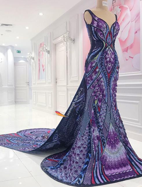مراحل آماده کردن لباس آیشواریا رای Aishwaria Ray برای جشنواره کن 2018 Cannes - عکس شماره 2