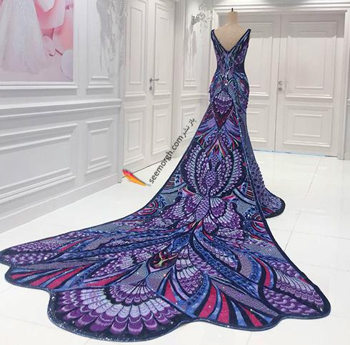 مراحل آماده کردن لباس آیشواریا رای Aishwaria Ray برای جشنواره کن 2018 Cannes - عکس شماره 3