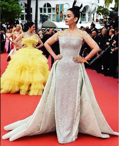 جشنواره کن 2018 cannes - مدل لباس آیشواریا رای Aishwaria Ray، عکس شماره 8