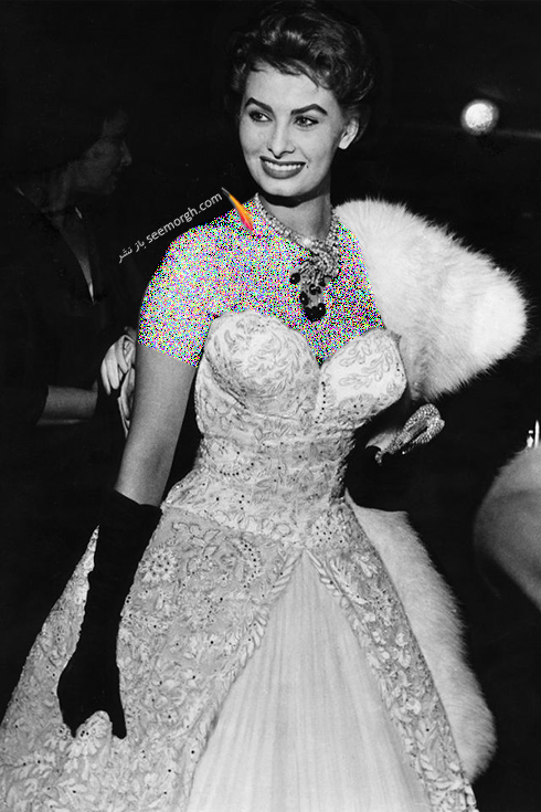 مدل لباس سوفیا لورن Sophia Loren در جشنواره کن 1953