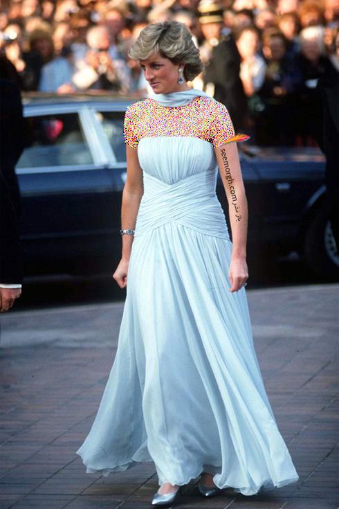 مدل لباس پرنسس دایانا Princess Diana در جشنواره کن 1987