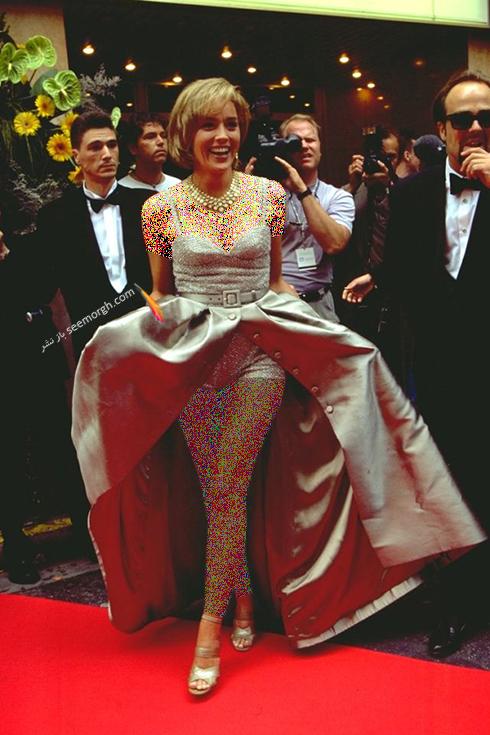 مدل لباس شارون استون Sharon Stone در جشنواره کن 1995