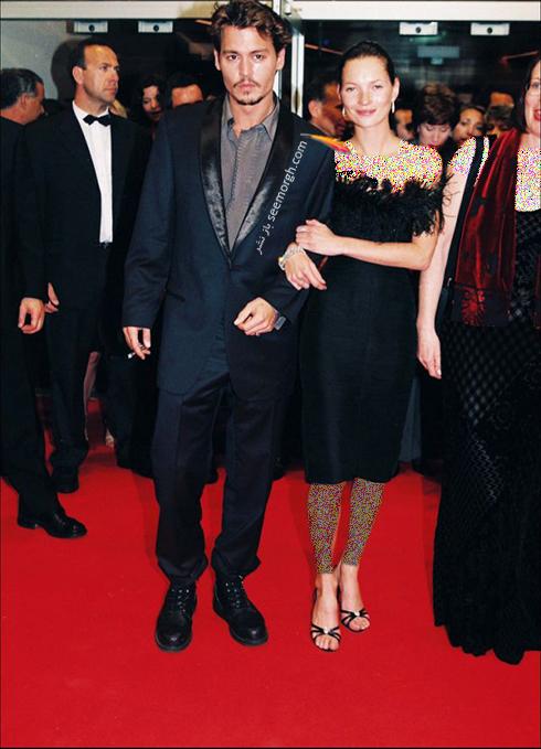 مدل لباس کیت ماوس Kate Moss در جشنواره کن 1998