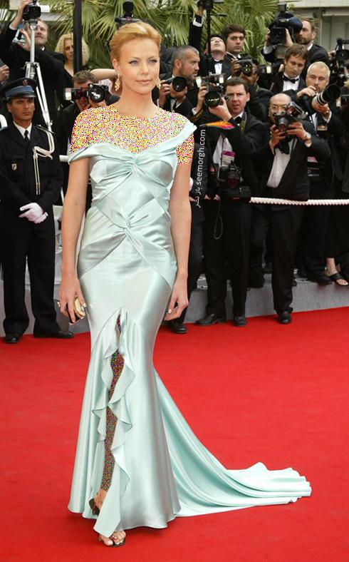 مدل لباس شارلیز ترون Charlize Theron در جشنواره کن 2004