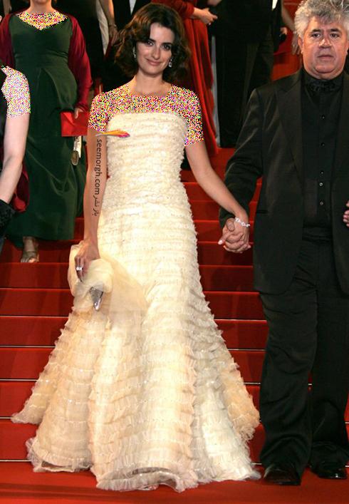 مدل لباس پنه لوپه کروز Penelope Cruz در جشنواره کن 2006