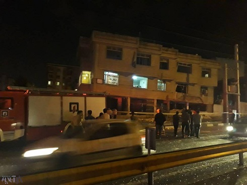 انفجار ساختمان دو طبقه در بزرگراه اشرفی اصفهانی