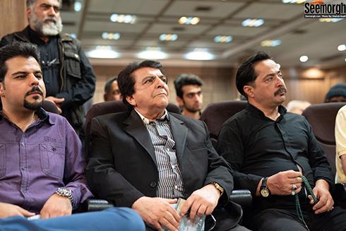 عباس قادری در مراسم یادبود ناصر چشم آذر