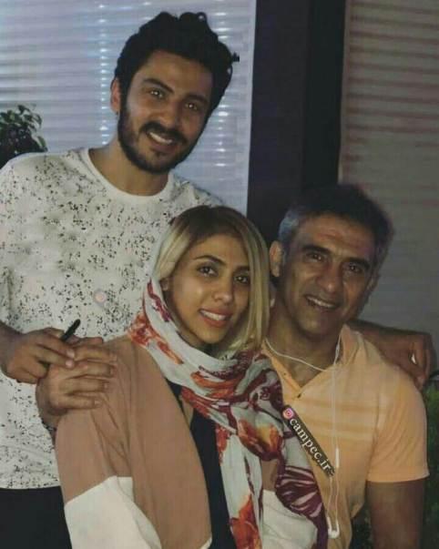 احمدرضا عابدزاده و دخترش نگار و داماداش رهام