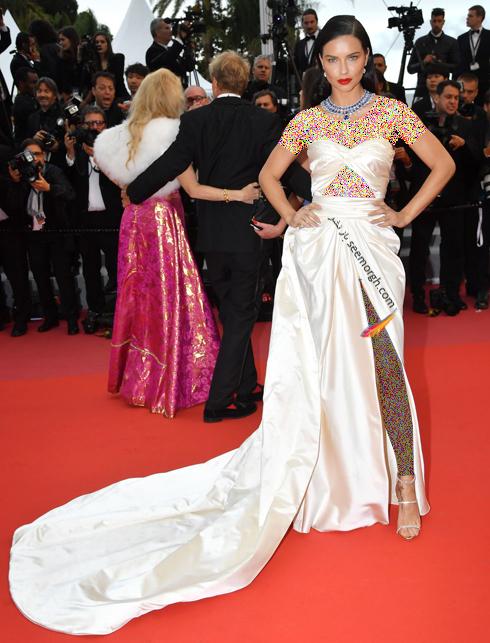 مدل لباس آدریانا لیما Adriana Lima در هشتمین روز جشنواره کن 2018 Cannes