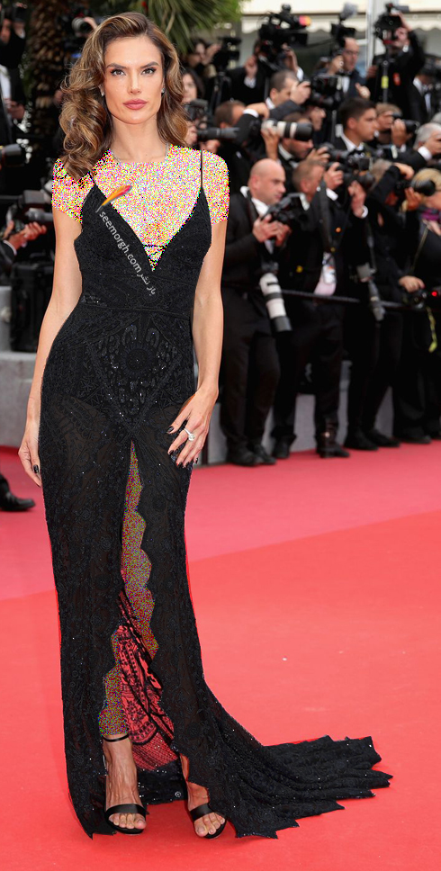 مدل لباس الساندرا آمبرسیو Alessandra Ambrosio در نهمین روز جشنواره کن 2018 Cannes