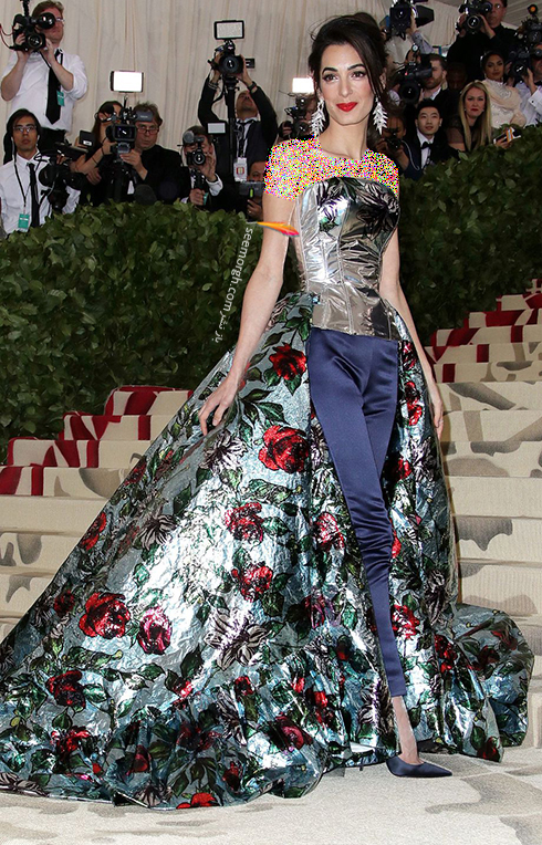 مدل لباس های برتر در مراسم مت گالا Met Gala 2018 - امل کلونی Amal Clooney
