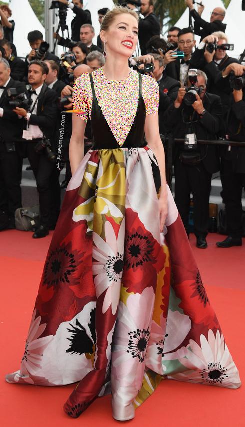 مدل لباس در روز سوم جشنواره کن 2018 Cannes - آمبر هرد Amber heard
