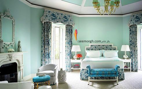 بهترین ترکیب رنگ اتاق خواب : دکوراسیون اتاق خواب به رنگ آبی