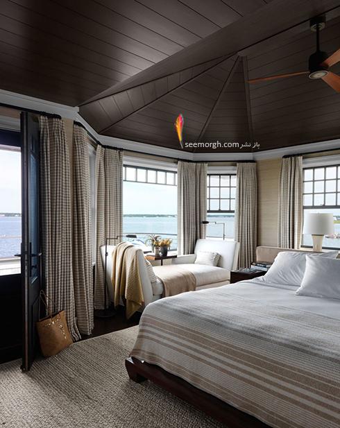 بدترین رنگ برای اتاق خواب زن و شوهر : دکوراسیون اتاق خواب به رنگ قهوه ای تیره