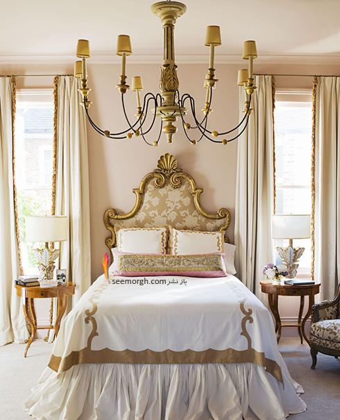 بهترین ترکیب رنگ اتاق خواب : دکوراسیون اتاق خواب به رنگ طلایی