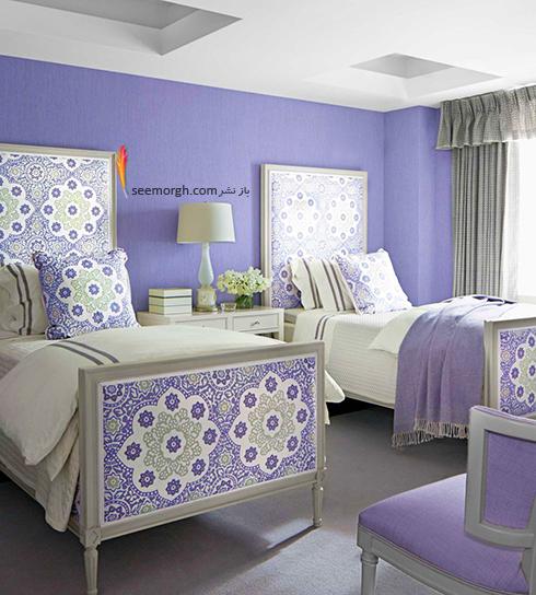 بهترین ترکیب رنگ اتاق خواب : دکوراسیون اتاق خواب به رنگ ارغوانی