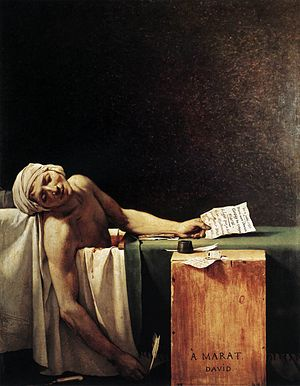 مرگ مارا اثر ژاک لویی داوید