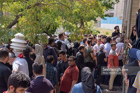 حضور پرشور مردم در مراسم یادبود ناصر ملک مطیعی 5