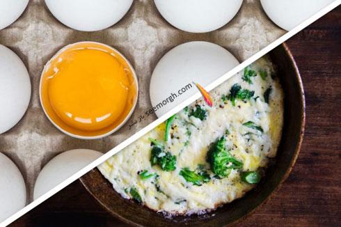 کاهش وزن فوق العاده با اجتناب از مصرف زرده تخم مرغ
