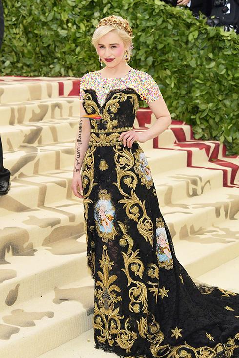 مدل لباس های برتر در مراسم مت گالا Met Gala 2018 -امیلی کلارک Emilia Clarke