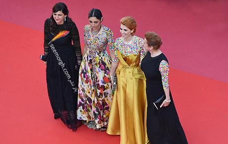 تیم سازنده فیلم دختران خورشید در جشنواره کن 2018
