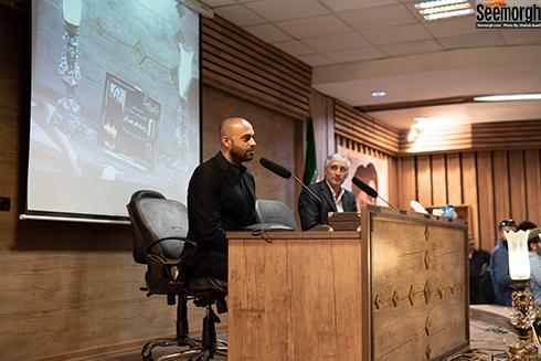 حمید حامی  در مراسم یادبود ناصر چشم آذر