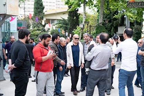 جمشید هاشم پور  در مراسم یادبود ناصر چشم آذر