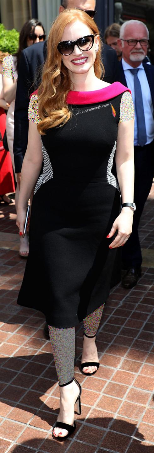 مدل لباس در روز سوم جشنواره کن 2018 Cannes - جسیکا چستین jessica chastin