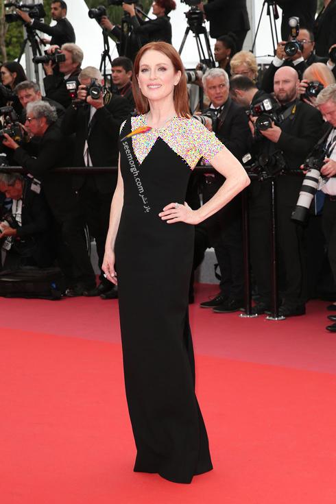 مدل لباس در نشست خبری روز دوم جشنواره کن 2018 Cannes - جولین مور Julianne Moore