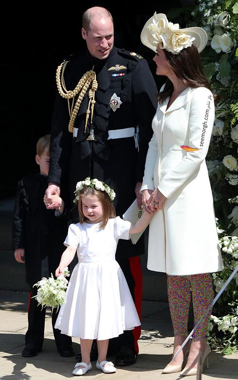لباس کیت میدلتون Kate Middleton در مراسم عروسی مگان مارکل Meghan Markle و پرنس هری Prance Harry - عکس شماره 2